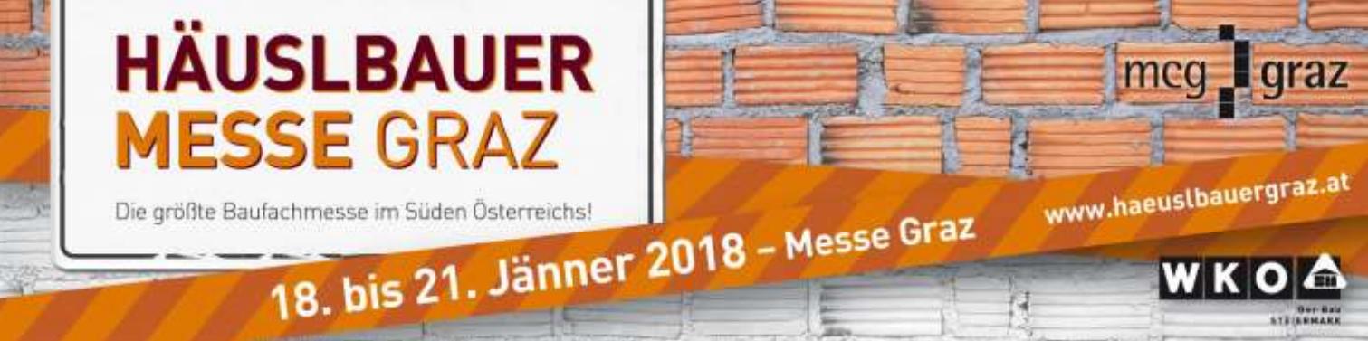 Häuslbauermesse Graz mit der Firma Klötzl vom 18.01.2018 bis 21.01.2018